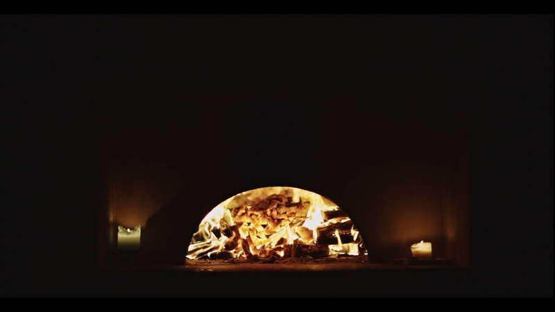 Fire in the bread oven