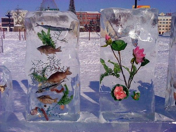 Ледяная фигура своими руками фото