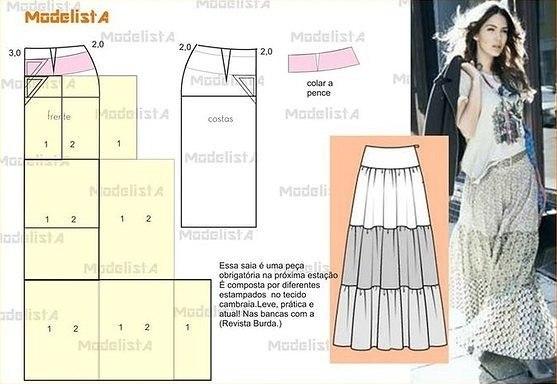 Как сшить юбку в пол своими руками