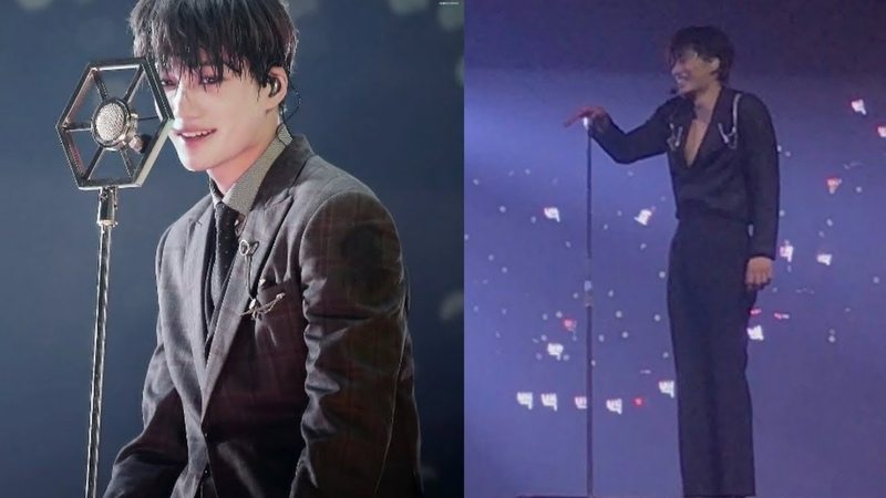 EXO Kai's mic goes flying,while performing at concert and chanyeol goes like what the he..