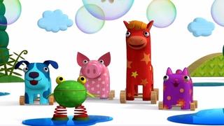 Деревяшки - Мыльные пузыри - Серия 33 - Обучающие мультики для малышей