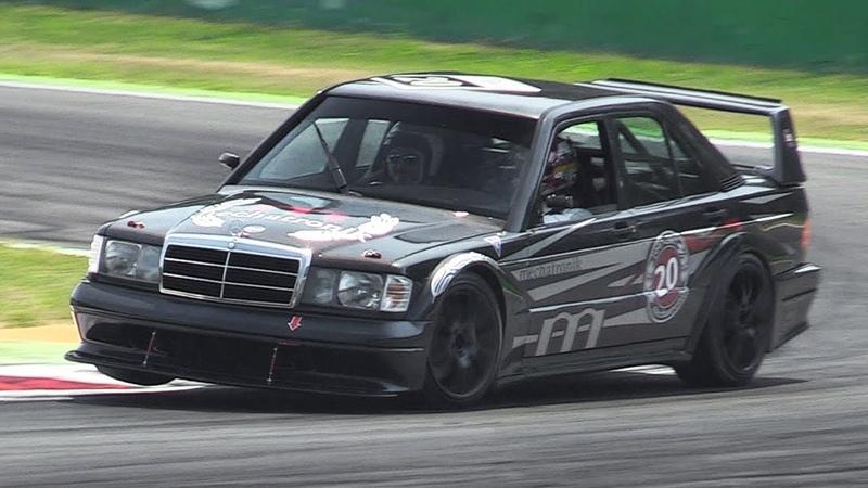Mercedes 190E 2.5-16 Evolution II w DTM Mods - Accelerations Fly Bys on Track!