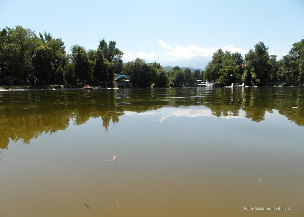 Центральная часть озера, Центральный Парк Алматы 2018
