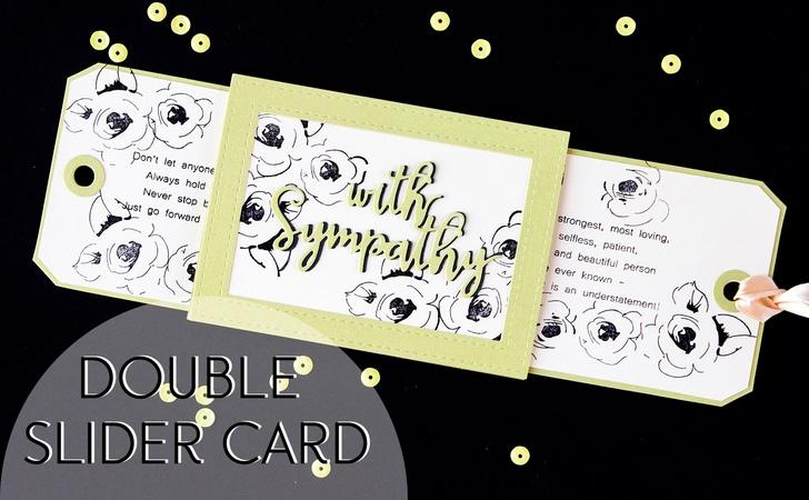 Double Slider card Открытка с 2мя выдвижными элементами.