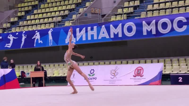Александра Скубова - мяч (финал многоборья) Первенство Москвы 2019
