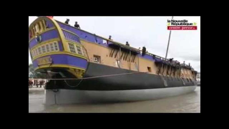 Hermione La Fayette frigate launching - Rochefort, friday 6th of july 2012