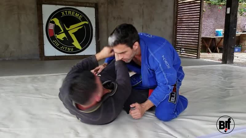 Fabio Duarte - choke from half guard bjj