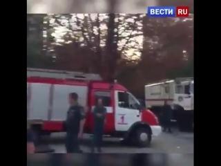 Видео с места взрыва кафе