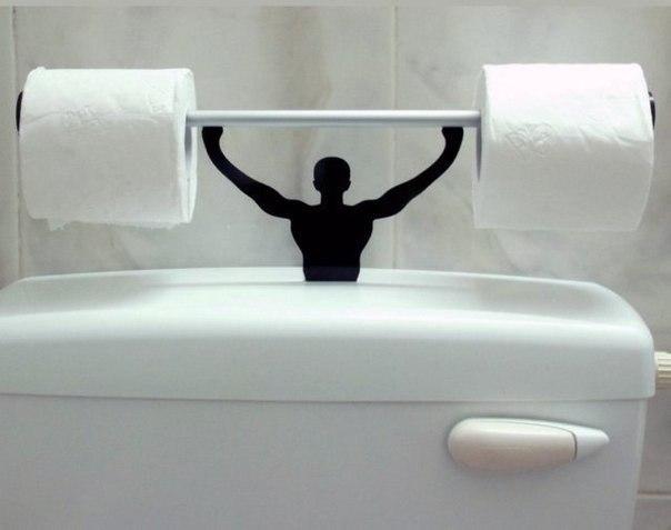 Оригинальный держатель туалетной бумаги… (1 фото) - картинка