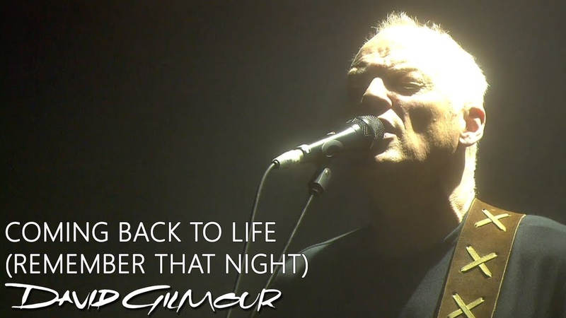David Gilmour Coming Back To Life Remember That Night