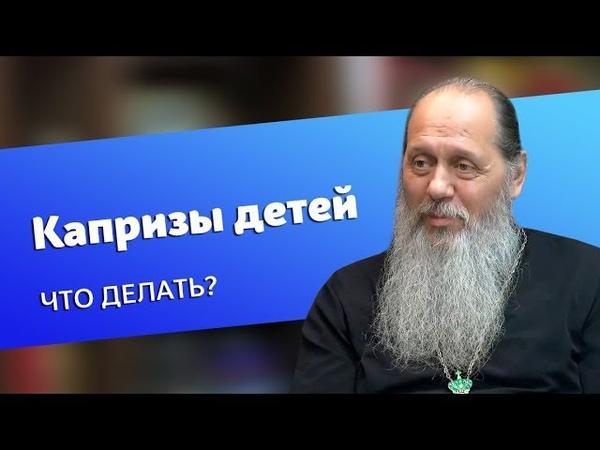 Как реагировать на капризы детей прот Владимир Головин