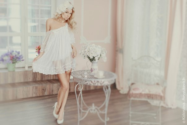 Студийная фотосессия утро невесты