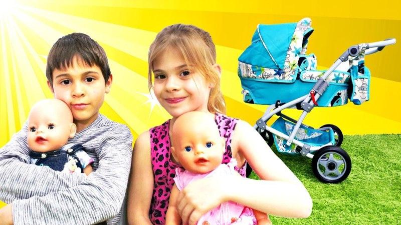 Большая коляска для Беби Бон. Видео для детей