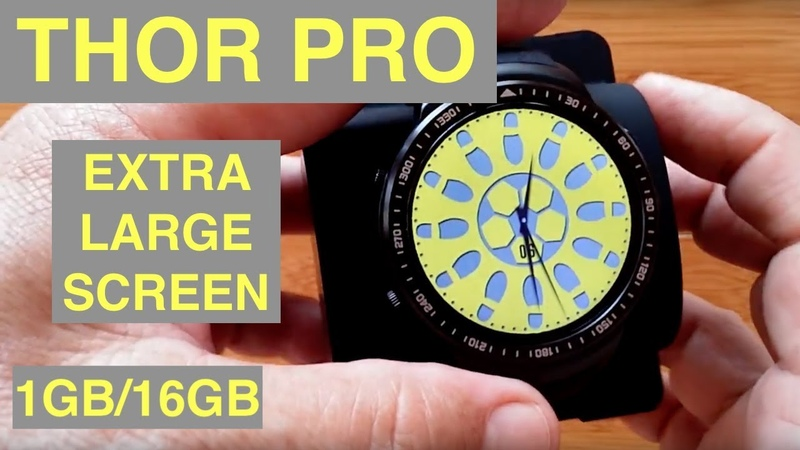 ZEBLAZE THOR PRO Extra Large Screen 1GB16GB Android 5.1 Smartwatch Unboxing and 1st Look