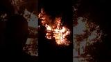 Пожар в Чернигове. Горит не жилой дом.