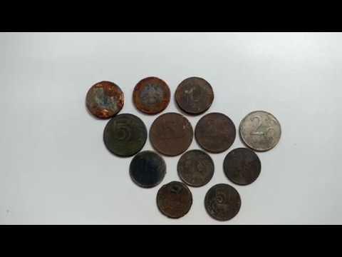 Три уникальных способа для нумизмата по чистке современных монет или находки 2018 года.