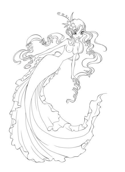 Winx манекены русалок и раскраски +игра раскраска волшебниц