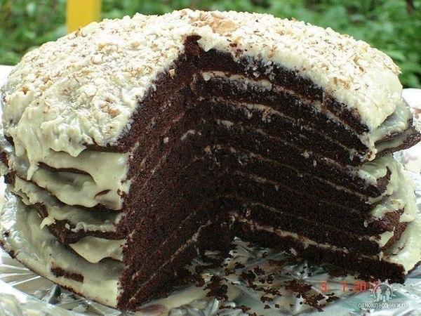 Торт ноченька рецепт на кефире