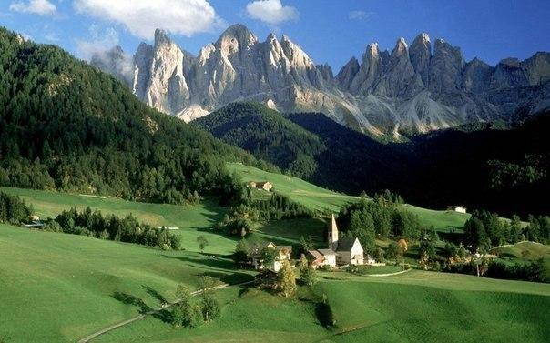Долина Фунес, Южный Тироль, Италия