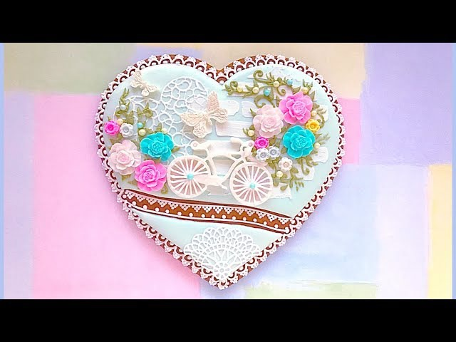 How to decorate cookie with edible lace. Enjoy the Ride cookie.👒🌸