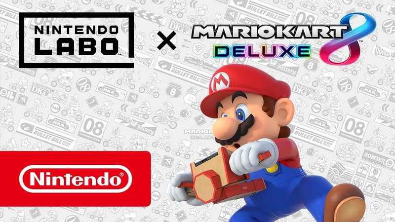 Игра Mario Kart 8 Deluxe теперь совместима с Nintendo Labo!