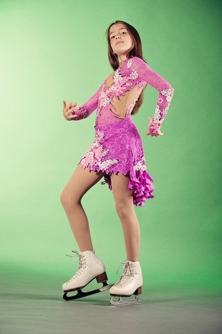 Платье фигурное катание блеск