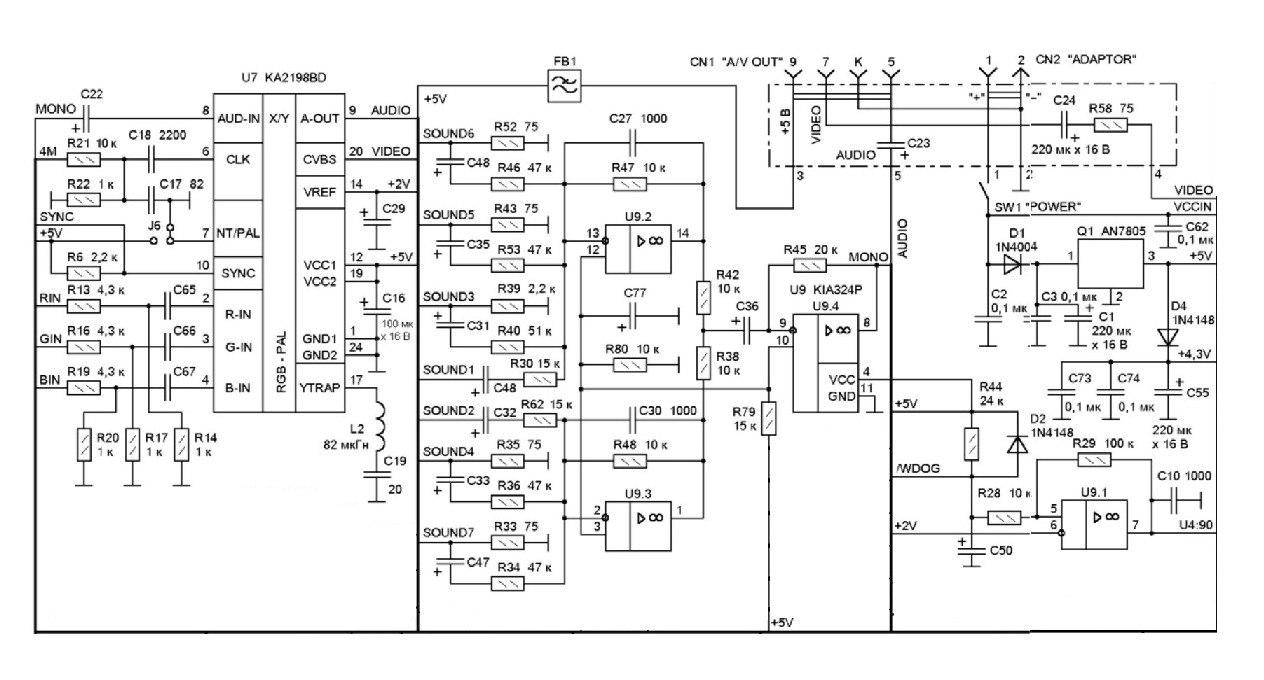 схема sega mega drive-2