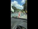 Установка разделителя на пересечении Ленинградского и Пятницкого шоссе