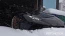 GTR Snow Launch Control Snow drift Lamborghini huracan