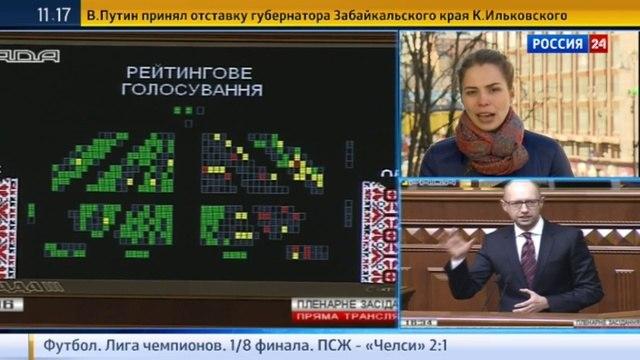 Новости на «Россия 24» • Голосуя за отставку Яценюка, депутат Рады перепутала кнопки