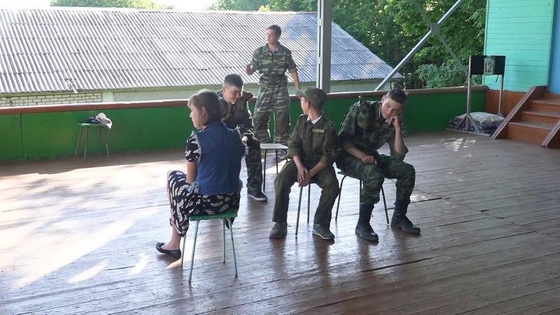 Концерт на День России Сценка из кадетской жизни