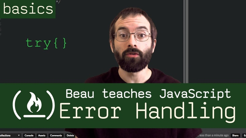 Try, catch, finally, throw - error handling in JavaScript