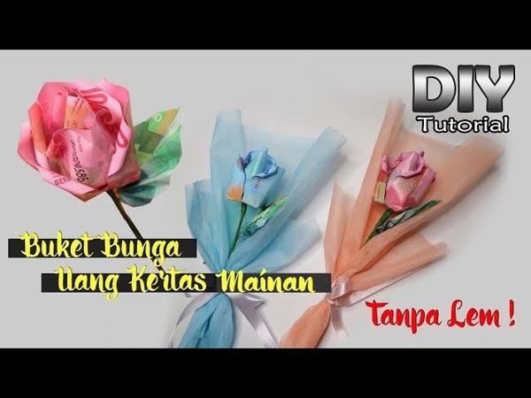 DIY   Single Bouquet   Mawar dari uang kertas mainan   Kerajinan tangan   Tugas sekolah