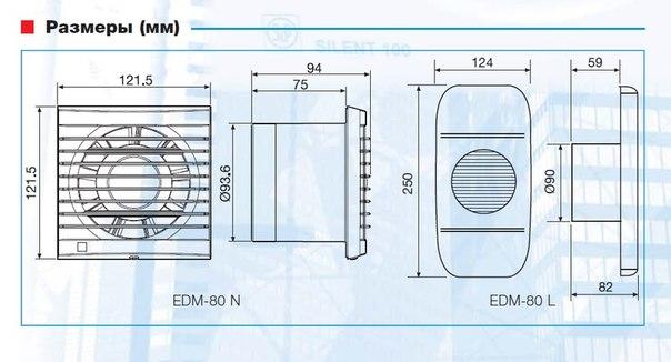 Вентилятор осевой EDM 80 N