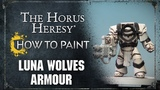 How to Paint Luna Wolves Armour