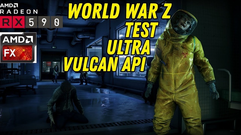 World War Z - Test gameplay Ultra RX590FX6300(4.3GHz)8gb RAM