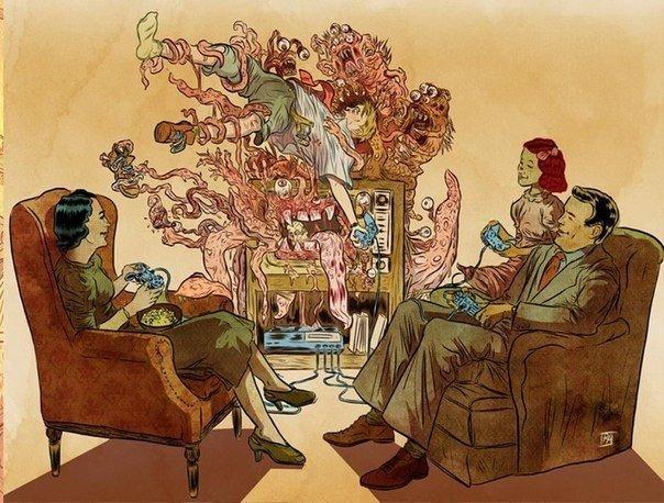 Жестко и со смыслом Скандальные, полные специфического юмора иллюстрации, некоторые из которых весьма известны в сети. Работы Рафаэля