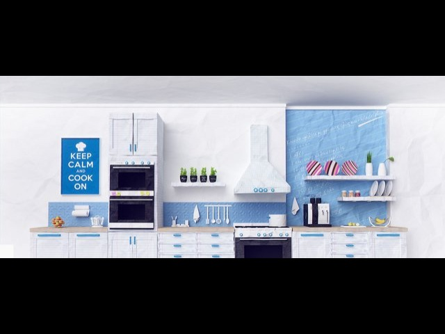 3D Paper-craft style kitchen | Intro