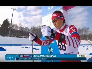 Лыжные гонки (женщины, 5 км, классика). Алиса Жамбалова (Универсиада-2019)