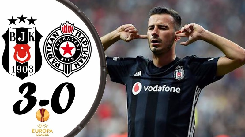 Beşiktaş 3-0 Partizan - Maç Özeti HD - 30.08.2018 UEFA Avrupa Ligi Play Off Rövanş Maç Vodafone Park