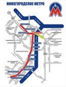 Схема метро Нижнего Новгорода Metro map of Nizhny Novgorod.