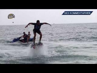NO COMMENTS  19 07 full HD/ FLYBOARD. Летающие дельфины. Шоу в Лазаревском