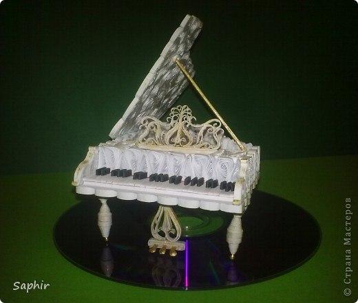 Объемный квиллинг: рояль.