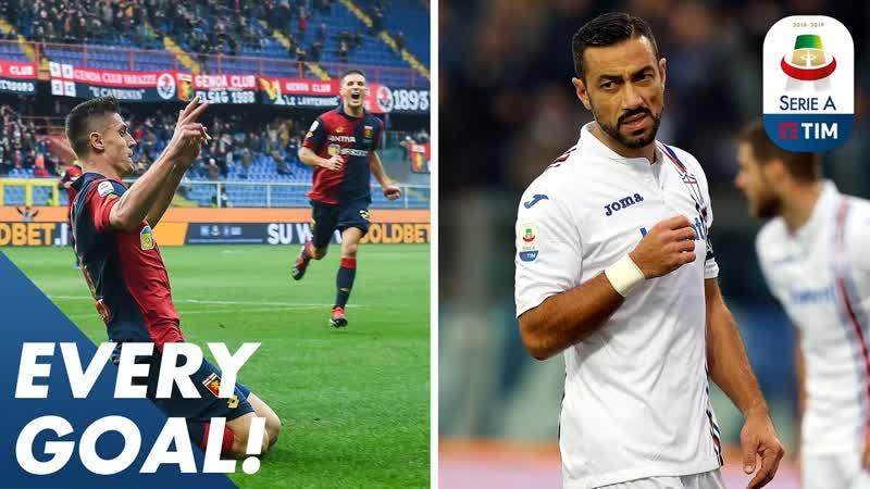 Piatek bags a brace, Quagliarella scores 7th in a row _ EVERY Goal R17 _ Serie A
