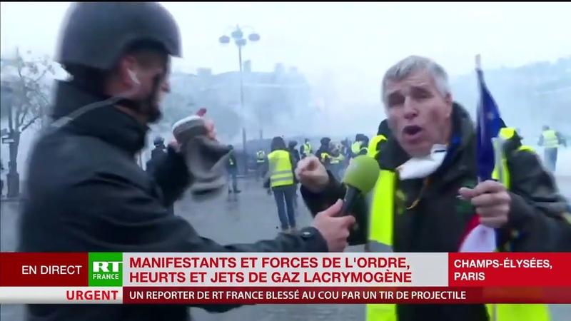 Un Gilet Jaune : «Il faut sortir de l'Europe car c'est Bruxelles qui impose ça» (RT,01/12/18,11h04)