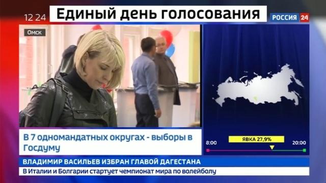 Новости на Россия 24 • 22 российских региона выбирают губернаторов