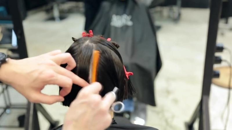 Как подстричь боб с удлинением I long to bob haircut, how to cut bob with accents