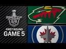 Minnesota Wild vs Winnipeg Jets – Apr. 19, 2018 Game 5 Stanley Cup 2018. Обзор