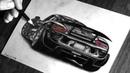 Realistic pencil drawing car PORSCHE 918 SPYDER / Speed Drawing / Photorealistic art / ISP DRAWING