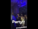 Gigi Hadid com Adriana Lima e Josephine Skriver em evento da Maybelline no NYFW hoje 8 de setembro 10